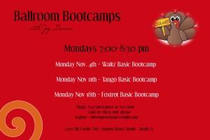 Ballroom Bootcamps Nov