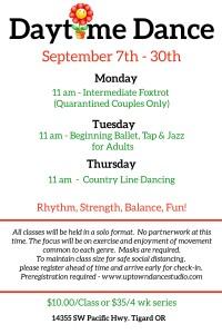 Daytime Dance Sept.