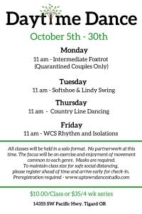 October Daytime Dance