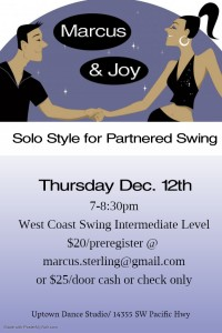Solo Movement for Partned Swing