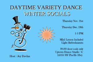 Winter Daytime Dance Socials