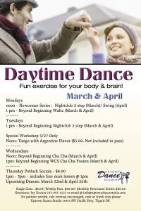 Daytime Dance March & April Final