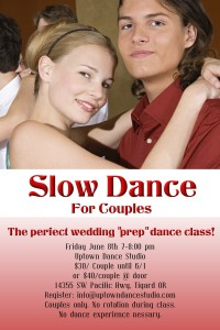 Slow Dance For Couples Final Print with Date and Time
