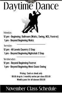 November Daytime Dance